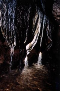The black stalactites, from a different angle. Photo: Mark Shinwell